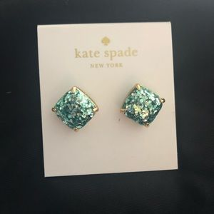 Kate Spade confetti sparkly stud earrings NEW!